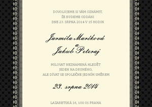 Svatební oznámení JSO17