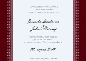 Svatební oznámení JSO19