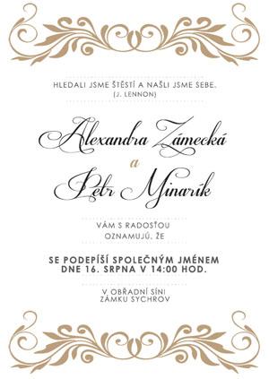 Svatební oznámení JSO29
