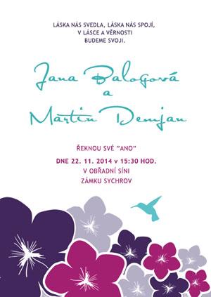 Svatební oznámení JSO31
