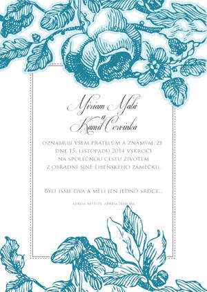 Svatební oznámení KSO30