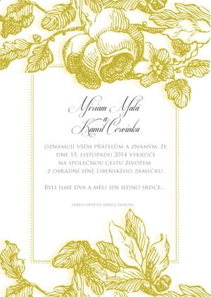 Svatební oznámení KSO31