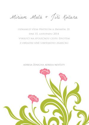 Svatební oznámení KSO33
