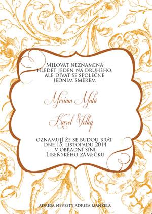 Svatební oznámení KSO34