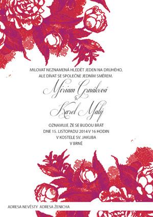 Svatební oznámení KSO37