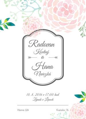 Svatební oznámení KSO48