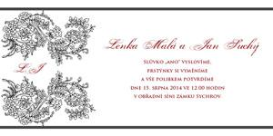 Svatební oznámení LSO10