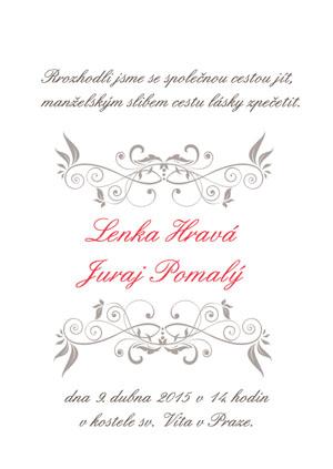 Svatební oznámení LSO22