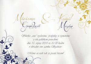 Svatební oznámení LSO34