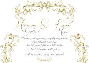 Svatební oznámení LSO36