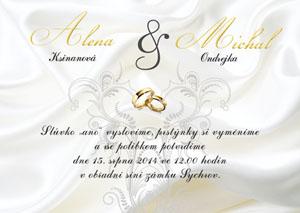 Svatební oznámení LSO40
