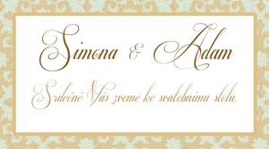 Svatební oznámení LSO45