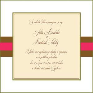 Svatební oznámení LSO46