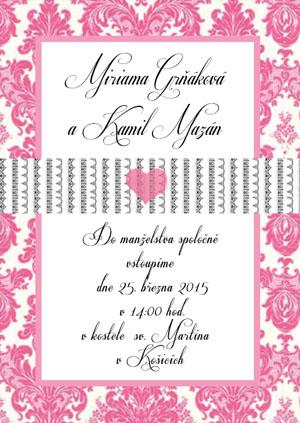 Svatební oznámení LSO48