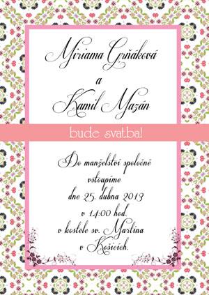 Svatební oznámení LSO49