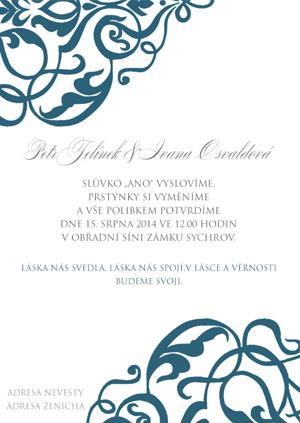 Svatební oznámení LSO53