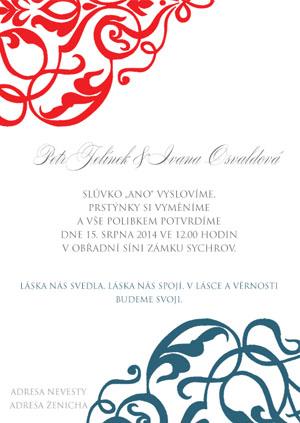 Svatební oznámení LSO54