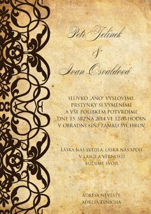 Svatební oznámení LSO56
