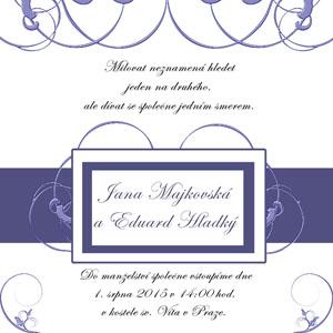 Svatební oznámení LSO6