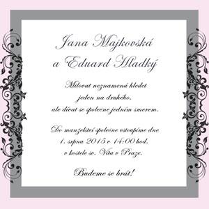 Svatební oznámení LSO9