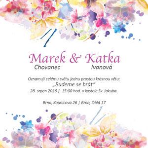 Svatební oznámení NO1