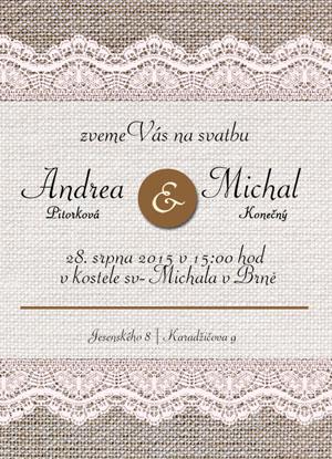 Svatební oznámení NO14