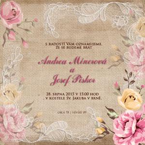 Svatební oznámení NO19