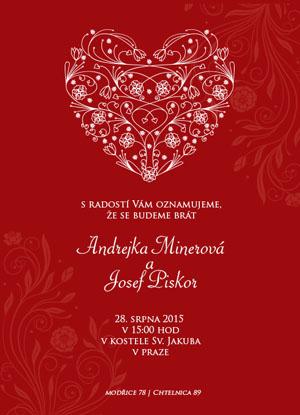 Svatební oznámení NO23