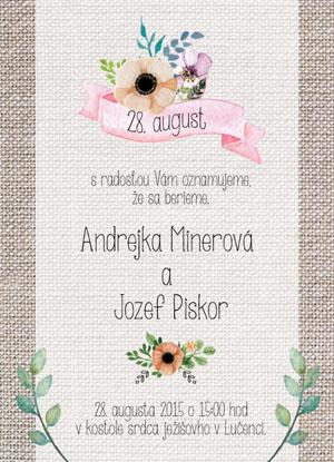 Svatební oznámení NO24