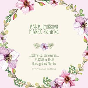 Svatební oznámení NO25