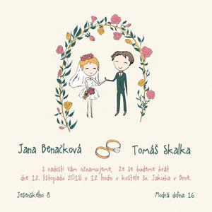 Svatební oznámení NO40