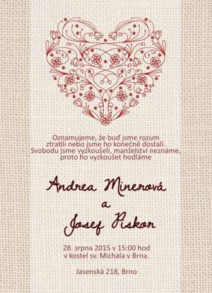 Svatební oznámení NO9