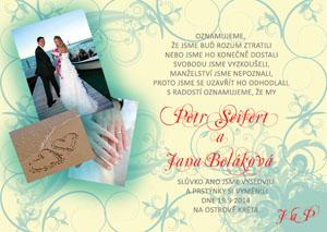 Svatební oznámení SFOT12