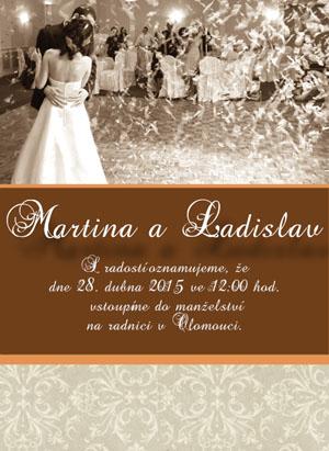 Svatební oznámení SFOT22