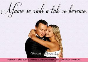 Svatební oznámení SFOT27