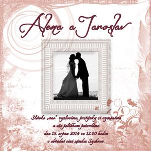 Svatební oznámení SFOT31