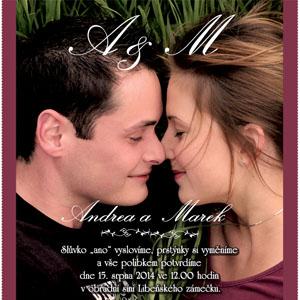 Svatební oznámení SFOT5