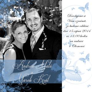 Svatební oznámení SFOT8