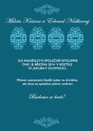 Svatební oznámení SSO16