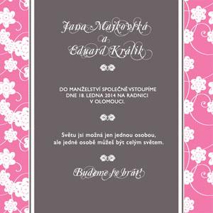 Svatební oznámení SSO19