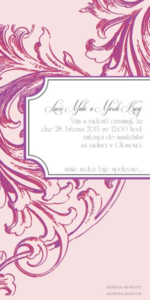 Svatební oznámení SSO32