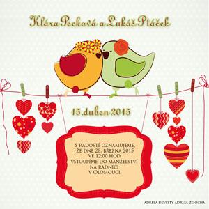 Svatební oznámení SSO38