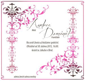 Svatební oznámení SSO51
